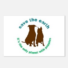 Cute Save the earth it%27s the only planet with beer Postcards (Package of 8)