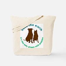 Cute Save planet Tote Bag