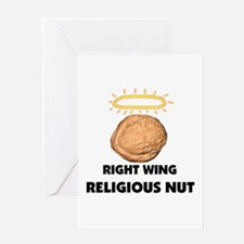 RELIGIOUS NUT Greeting Card