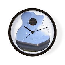 Chrome Guitar Wall Clock