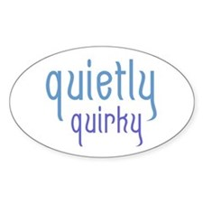 Quietly Quirky Oval Decal