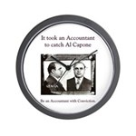 Al Capone Accountant Wall Clock