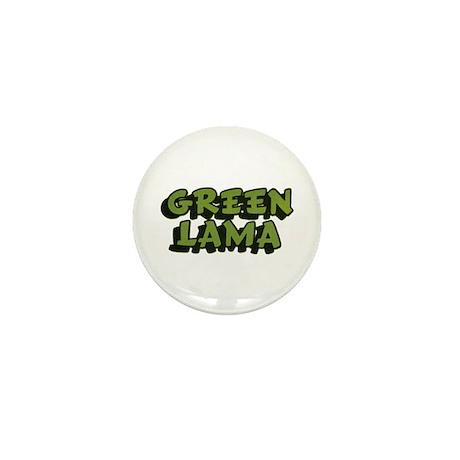 $2.49 Classic Green Lama Logo Mini Button