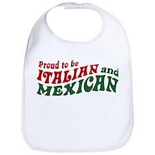 Proud Italian and Mexican Bib
