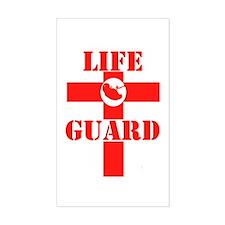 Life Guard Rectangle Decal