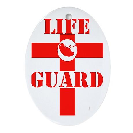 Life Guard Oval Ornament