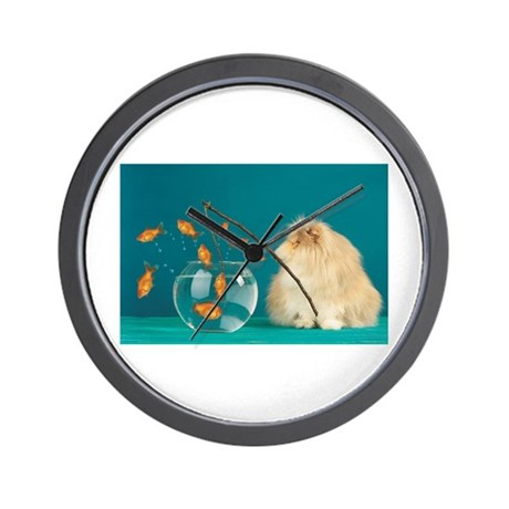 Cat Fishing Wall Clock