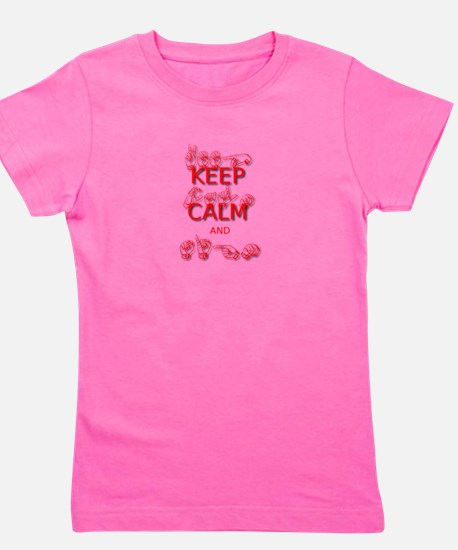 Keep Calm and Sign -in Sign Language T-Shirt