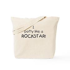 I Potty Like A Rockstar Tote Bag