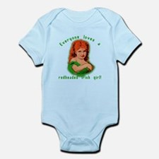 Redheaded Irish Girl Infant Bodysuit