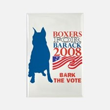 Cute Bark obama Rectangle Magnet