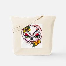 Skully Green Eyes Tote Bag