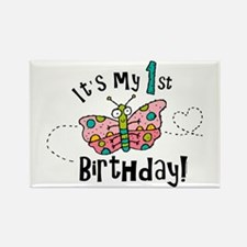 Butterly Birthday First Rectangle Magnet