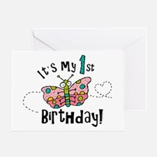 Butterly Birthday First Greeting Card