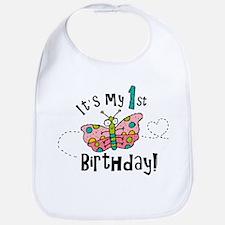 Butterly Birthday First Bib