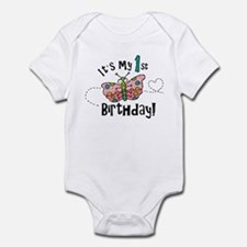 Butterly Birthday First Infant Bodysuit
