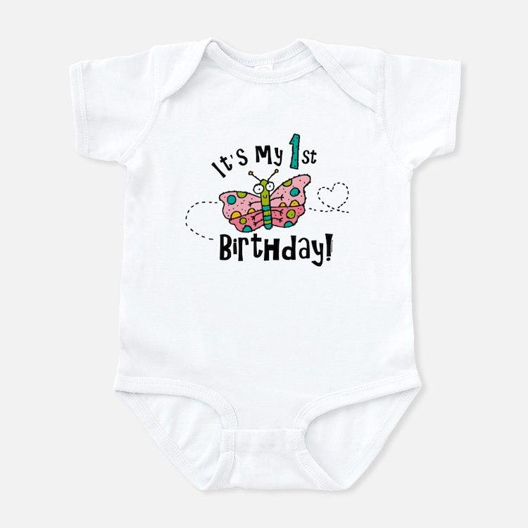 Butterly Birthday First Infant Bodysuit