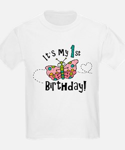 Butterly Birthday First T-Shirt