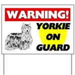 Yorkie On Guard Yard Sign