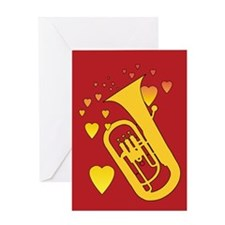 Euphonium Heartsong Greeting Card