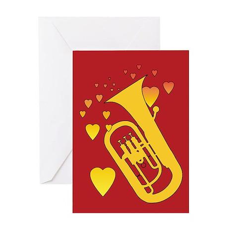 Euphonium Heartsong Greeting Card