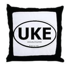 Cute Ukelele Throw Pillow