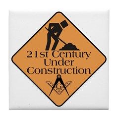 Free Mason Builders Tile Coaster