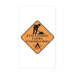 Free Mason Builders Rectangle Decal