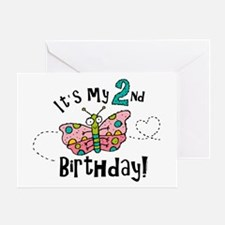 Butterfly Birthday Second Greeting Card