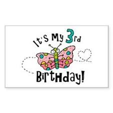 Butterfly Birthday Third Rectangle Decal