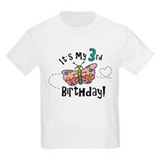 Butterfly Birthday Third T-Shirt