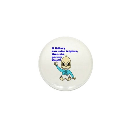 Hillary for President_triplets Mini Button (100 pa