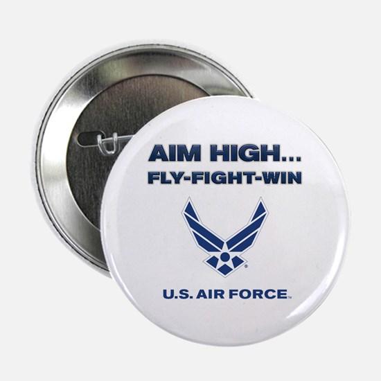 "US Air Force Aim High 2.25"" Button"