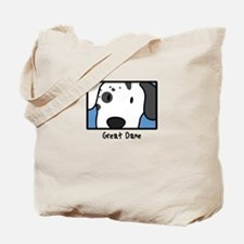 Anime Harlequin Great Dane Tote Bag