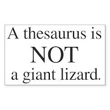 Thesaurus Rectangle Decal