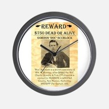 Wanted Doc Scurlock Wall Clock