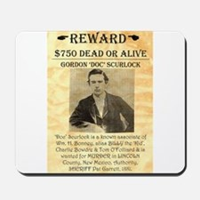 Wanted Doc Scurlock Mousepad