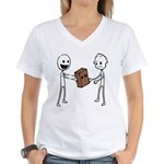 Paper Bag for the Ugly Women's V-Neck T-Shirt
