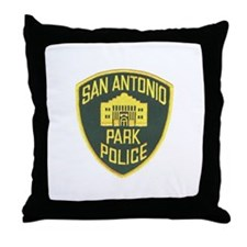 San Antone Park PD Throw Pillow