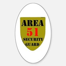 AREA 51 Oval Stickers