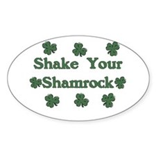 Shake Your Shamrock Oval Decal