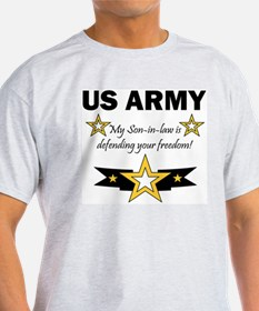 Son-in-law defending freedom Ash Grey T-Shirt