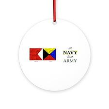 Bravo Zulu Beat ARMY! Ornament (Round)