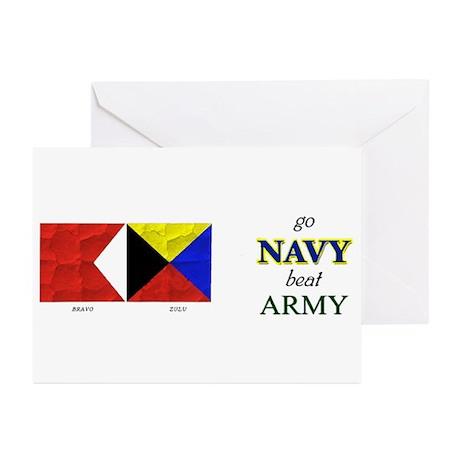 Bravo Zulu Beat ARMY! Greeting Cards (Pk of 10)