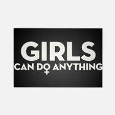 Girls Can Do Anything Rectangle Magnet