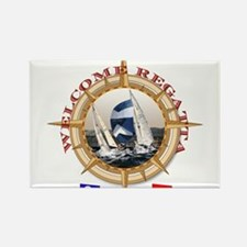 Cool Boat racing Rectangle Magnet