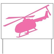 Pink Helicopter Yard Sign