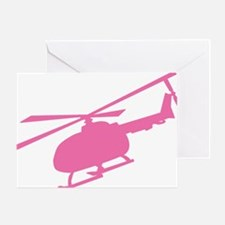 Pink Helicopter Greeting Card