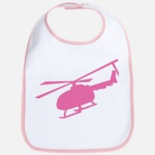 Pink Helicopter Bib