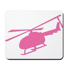 Pink Helicopter Mousepad